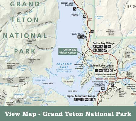 View Guide Map of Grand Teton National Park